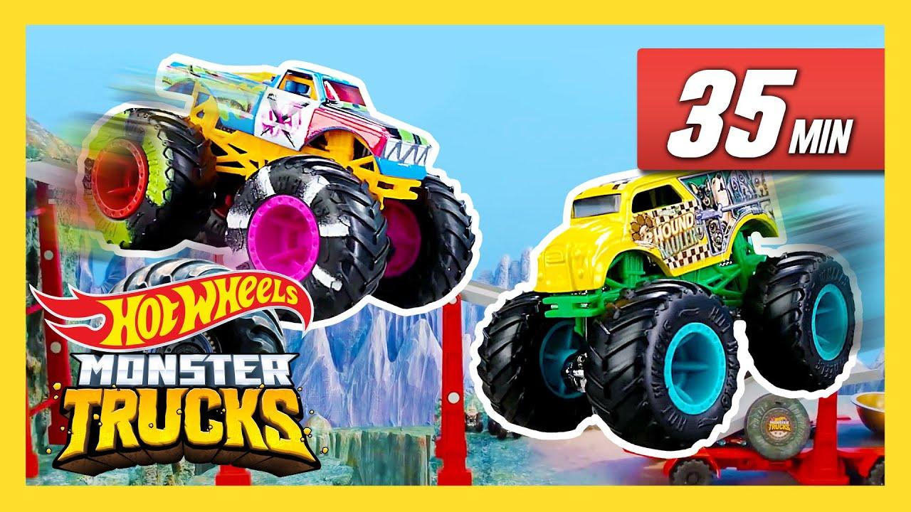 Epic Downhill Races! | Monster Trucks | @Hot Wheels
