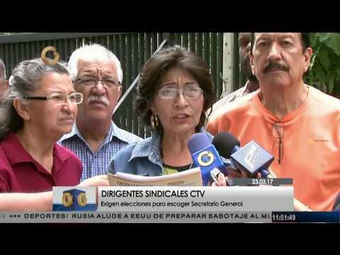 Dirigentes sindicales exigen elecciones para la Secretaría General de la CTV