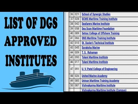 List Of DGS Approved Institutes | Approved Institues For Merchant Navy Courses
