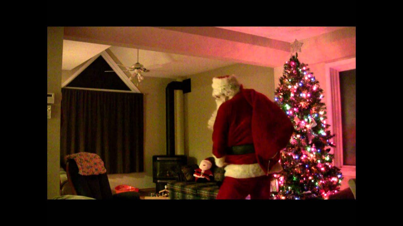 Santa Caught On Video   YouTube