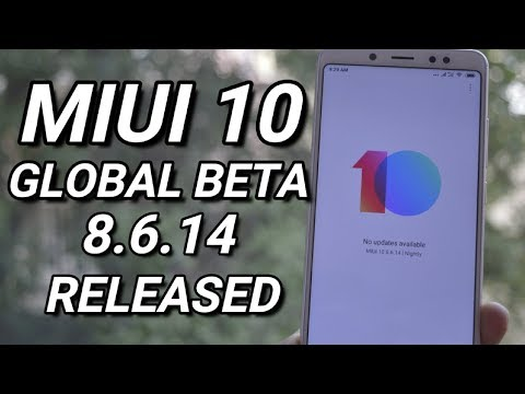 MIUI 10 Global Beta 8.6.14 Released with New UI & Android 8.1!!!!!