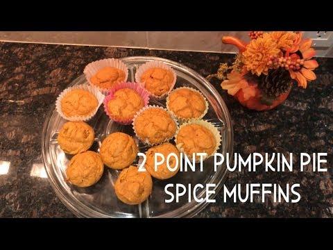 2 Point Pumpkin Pie Spice Muffins | Weight Watchers |