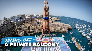 We're Diving Off A Private Balcony   Polignano a Mare, Italy