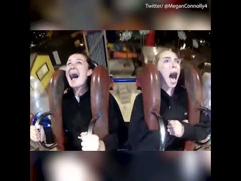 Woman freaks out on a slingshot ride - Daily Mail
