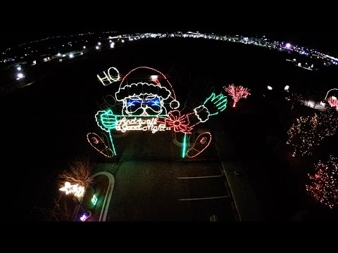 Aerial View of Thanksgiving Point Holiday Lights