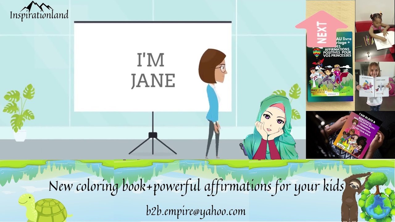 BEST BOOK FOR KIDS | Animation For Children | NEW COLORING BOOK + POWERFUL AFFIRMATIONS FOR KIDS. ??