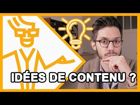 🎓 Comment trouver ses idées de contenu ?