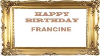Francine   Birthday Postcards & Postales - Happy Birthday