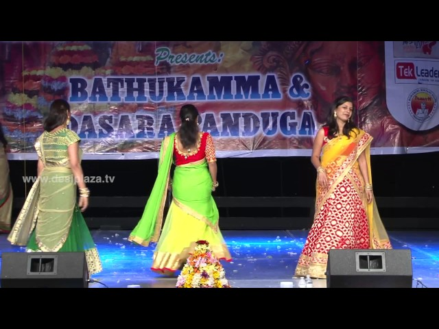 Ladies Fashion Show at DATA Bathukamma & Dasara Panduga Celebrations 2016