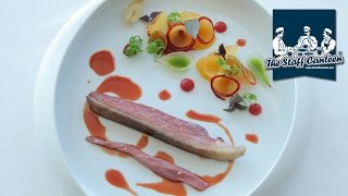 2 Michelin star chef Mauro Colagreco cooks duck with compote of plum