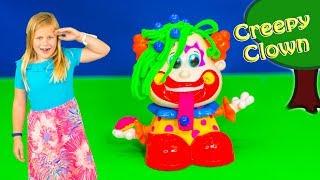 Assistants Plays with the Birthday Play Doh Clown Play Set