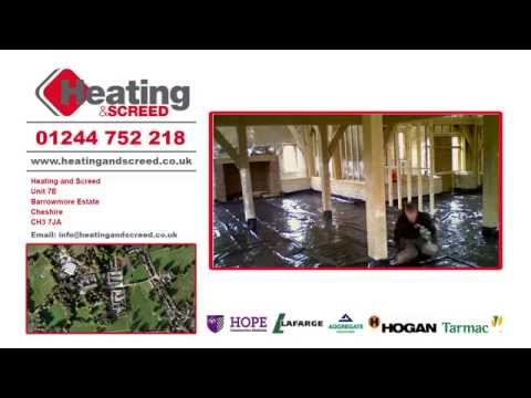 Heating and screed installation service video and contact details