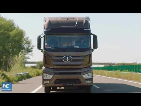 China's self-driving trucks finish highway test