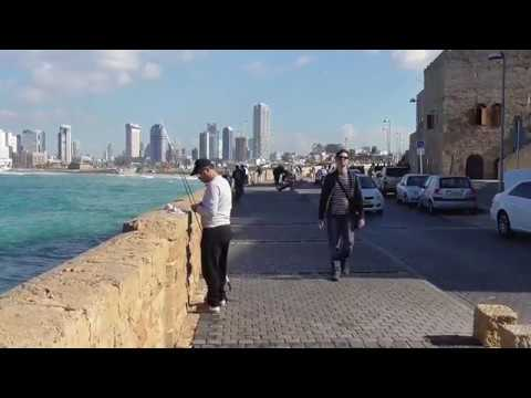 Tel Aviv walk December 2014 -Restored south, the shore , sunset and more...