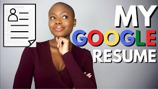 Resume That Got Mę Into Google (Resume Tips For Applying To Google Jobs & Internships)