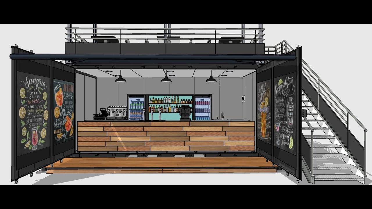 Container Aménagé Studio Prix shipping container bar / pub / cafe
