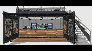 Shipping container / Container aménagé : Bar / Cafe design