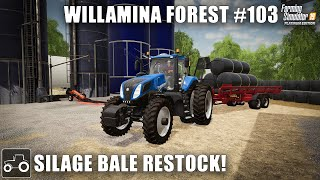 Cutting Grass For Silage Bales - Willamina Forest #103 Farming Simulator 19 Timelapse