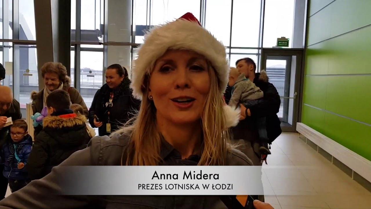 Św. Mikołaj wylądował na łódzkim lotnisku