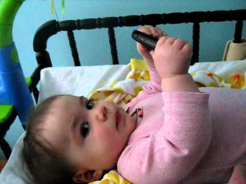 Auntie Kayla on phone from Belize
