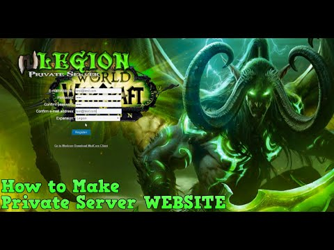 How to Make a Registration Website for WoW Legion Private Server
