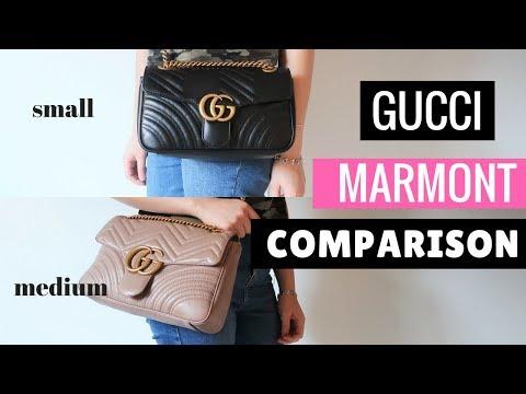 GUCCI MARMONT COMPARISON | SMALL VS MEDIUM