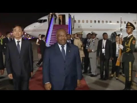 President of Gabon arrives in China for FOCAC