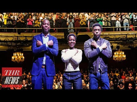 'Black Panther' Stars Share Black Pride With Enthusiastic Apollo Theater Audience | THR News
