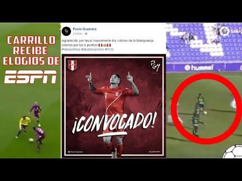 """CARRILLO RECIBE ELOGIOS DE ESPN Y HACE UNA HUACHA   ''VAMOS POR LOS 6 PUNTOS""""   GRAN JUGADA DE PEÑA"""