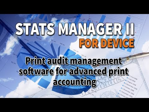 Print Audit Software: Stats Manager II for Device (Enhanced Version)