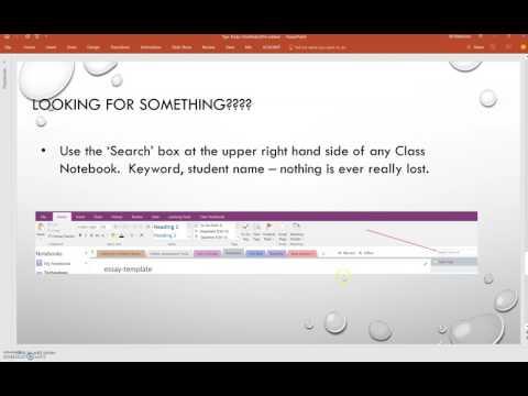 Tips & Tricks:  OneNote Class Notebook
