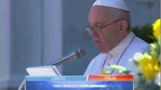 Papa Francisco visito santuario de Nuestra Señora de Loreto thumbnail