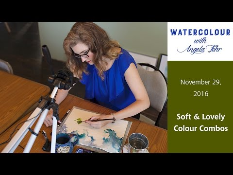 Live Watercolour Lesson with Angela Fehr: Soft & Lovely Colour Combos