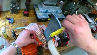 Hoe om de scherpte van een goedkope bijl te scherp is met een bestand