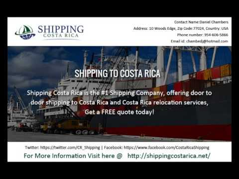 Choose The Best  Shipping to Costa Rica For Import  Your Product