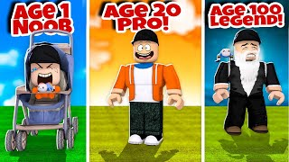 From Baby Noob To OLD MAN LEGEND! | Roblox Age Simulator