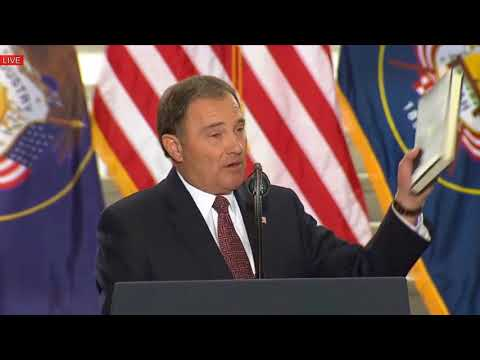 Gary Herbert Speech Before President Trump Speech in Utah State Capitol, Salt Lake City 12/4/17