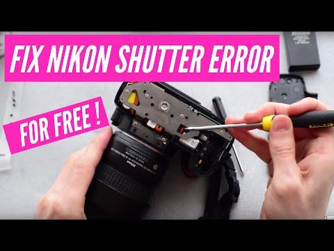 "How to fix the Nikon DSLR ""Press shutter release button again"". Works on D40,D60,D3000,D5000"
