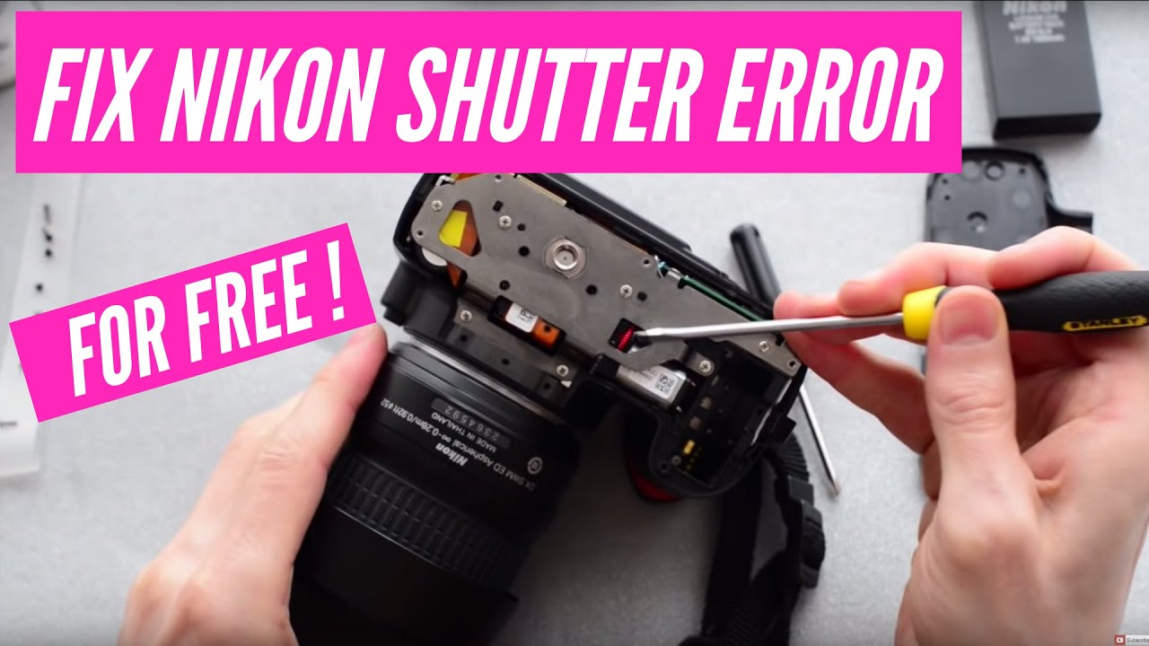 How To Fix The Nikon Dslr Quot Press Shutter Release Button
