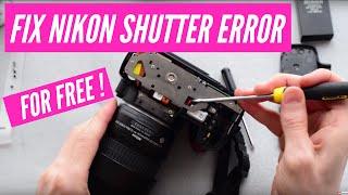 How to fix the Nikon DSLR 'Press shutter release button again' error. Works on D40,D60,D3000,D5000