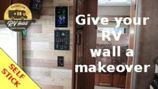 RV Wall Makeover – Faux Wood Panels – Self Stick – How To and Review