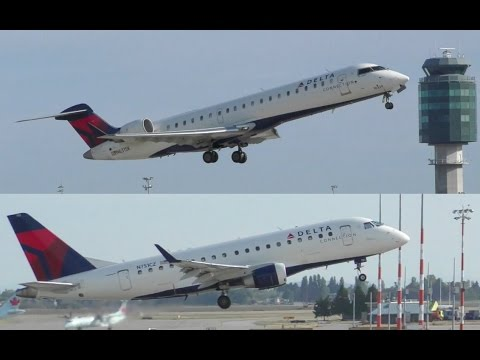 Delta Airlines Embraer ERJ-170 and Bombardier CRJ-700 Regional Jets