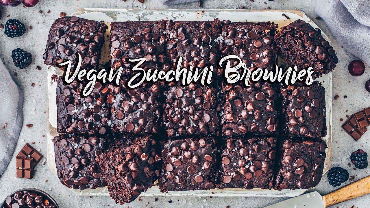 Vegane Zucchini Brownies | *Das Beste Rezept!* Einfach + lecker!