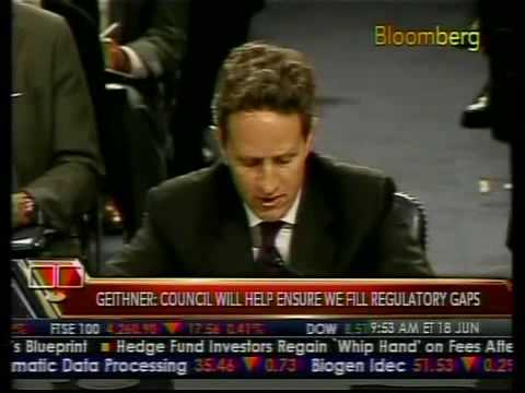 Geithner Speaks on Regulatory Reform - Bloomberg