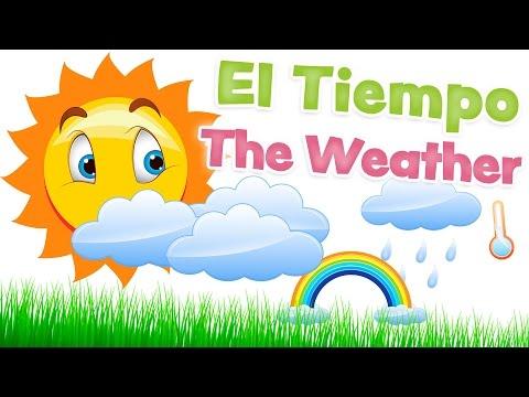 EL TIEMPO en inglés y español - Vocabulario clima y meteorología para niños