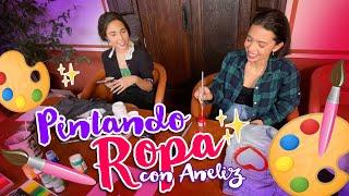 Ángela Aguilar - Mi Vlog #73 Pintando ropa con Aneliz