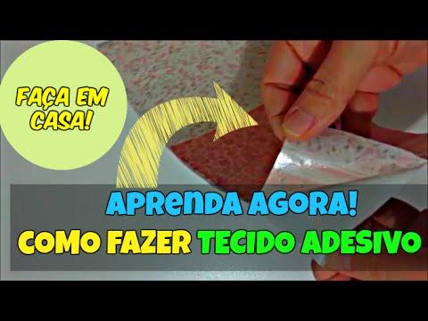 Faça Tecido Adesivo em Casa! | Como Fazer Tecido Adesivo DIY