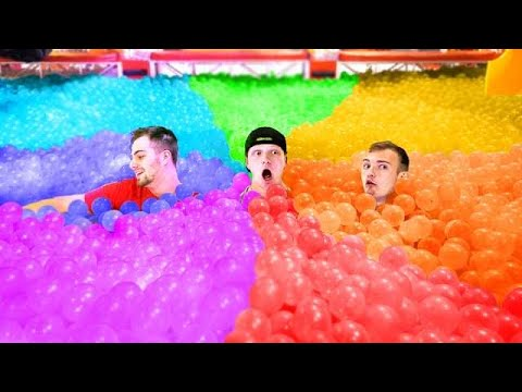IMPOSSIBLE RAINBOW BALL HIDE & SEEK!