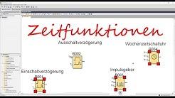 Zeitfunktionen Einschalt und Ausschaltverzögerung, Impulsgeber(Tutorial deutsch) I LOGO!kurs Teil 6