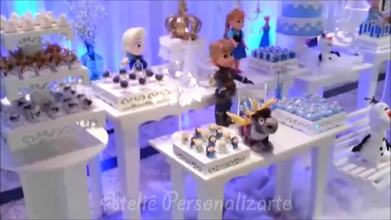 Decoração De Festa Infantil Frozen Youtube